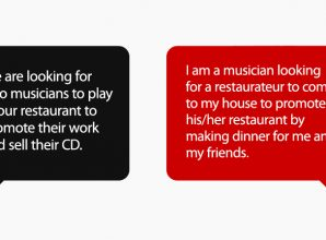 Epic Reply To A Restaurant Asking Musicians To Play For Free. Every Creative Should See This.
