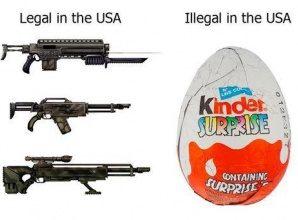 USA – Guns vs Kids chocolate