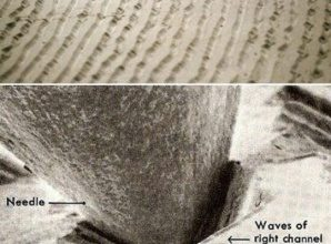 Vinyl Record Being Played Under The Microscope