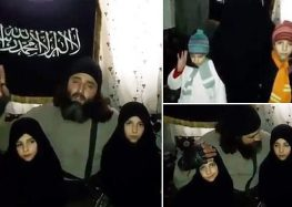 Footage taken north of Damascus, Syria, shows a male fanatic lecturing the two c…