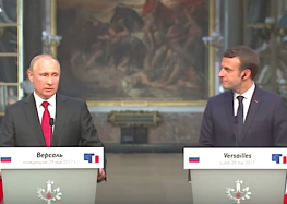 Macron stands next to Putin and calls him out on fake news and gay rights – DeadState