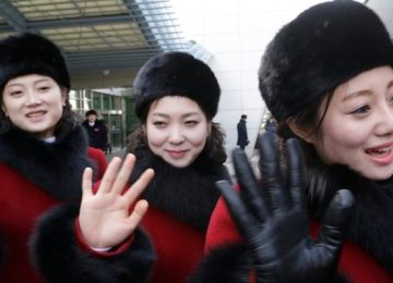 The 230-woman North Korean cheer squad is stealing the show at the Winter Olympics