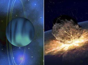 Something Massive Smashed into Uranus