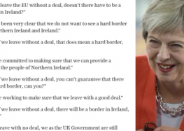 Theresa May on the Irish border will have you facepalming into next week