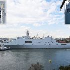 Chinese warships in Sydney Harbour in stunning military display
